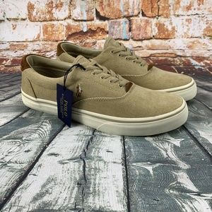 Polo Ralph Lauren Mens Size 13 Tan Boat Shoes NWT